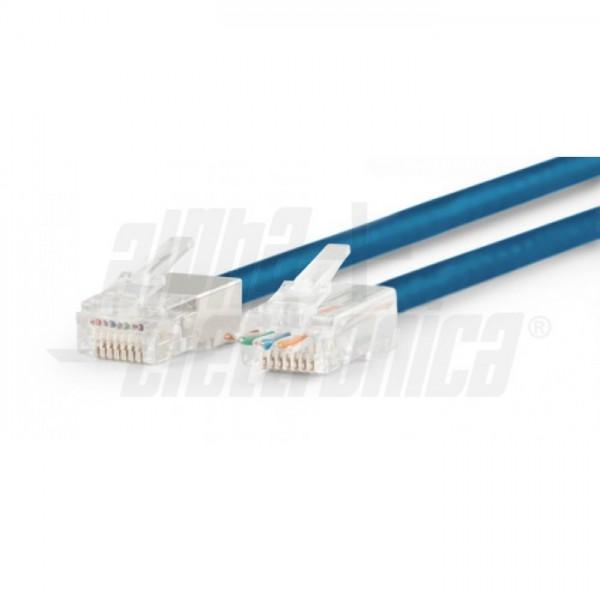Alpha Elettronica 94-916//6B flessibile Spina Schemata passante RJ45 8P8C FTP AWG24-26 Cat.6 rigido