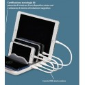 FAMILY CHARGING STATION STAZIONE RICARICA SOFT TOUCH BASE WIRELESS 4 PORTE USB