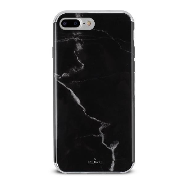Puro Cover TPU Marble per iPhone 7 Plus Nero Marquina - Forniture Elettroniche Trentine snc