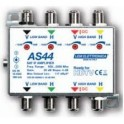 Amplificatore IF SAT di linea/testa 4 ingressi / 4 uscite 20 dB