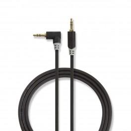 Cavo Audio Stereo | Maschio da 3,5 mm Cavo Audio Stereo | Maschio da 3,5 mm - Maschio angolato da 3,5 mm | 1.0 m