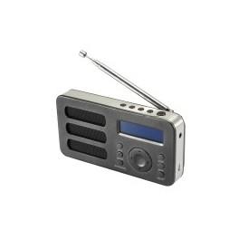 RADIO DAB SOUNDAB METAL BLACK RADIO DIGITALE DAB+ E FM CON BATTERIA RICARICABILE COLOREBLACK
