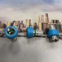 CONN.F AD AVVITARE RAPIDO PER CAVI 6,7MM CON GUAINA BLU PUSH & LOCK       confezione da 50 pz