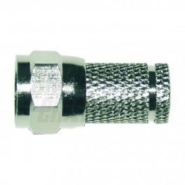 Spina F HQ per cavo ø6 8mm Spina F  HQ  ad avvitare in ottone tornito nichelato per cavo ø6 8mm   2 O Ring