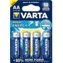 BATTERIA VARTA  AA STILO  BLISTER 4 PZ SERIE BLU HIGH ENERGY