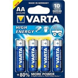 BATERIA VARTA  AA STILO  BLISTER 4 PZ SERIE BLU HIGH ENERGY