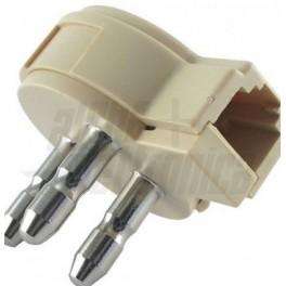 Adattatore da spina e presa trip A 6P2P Adattatore da spina e presa tripolare a presa modulare 6P2C
